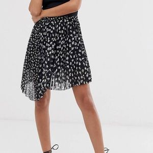 Lea Scattered Pleated Mini Skirt by AllSaints